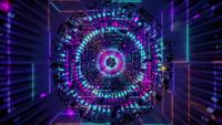 Glowing space particles abstract art 3d illustration vj loop