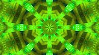 Green blue Blinking kaleidoscope 3d illustration vj loop