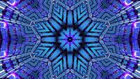 Abstract blue event visual kalaidoscope mandala pattern 3d illustration vj loop