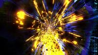 Yellow highly abstract visual effect 3d illustration vj loop