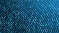 Fundo de matriz azul com letras e dígitos brancos de movimento
