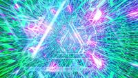 Glowing neon lines abstract tunnel 3d illustration dj loop