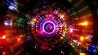 Abstract reflection neon lights glowing colors 3d illustration vj loop