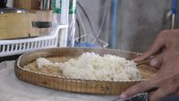 Hot sticky rice