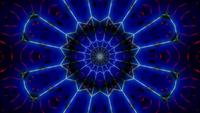 Glowing blue abstract neon 3d illustration visual vj loop