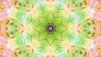 Blinking yellow green star kalaidoscope 3d illiustration vj loop
