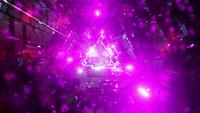Pink neon particles science fiction tunnel 3d illustration vj loop