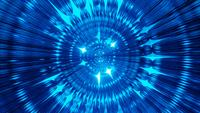 Blue glowing abstract reflection tunnel 3d illustration visual vj loop