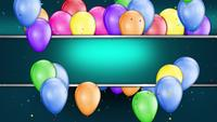 Flying Balloons Celebration Background