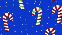 Cartoon Candy Canes achtergrond