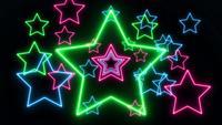 Abstract Laser Neon Light Stars