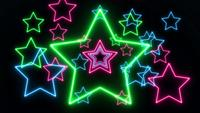 Estrellas de luz de neón láser abstracto