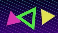 Triángulo de patrones de geometría de estilo retro con cuadrícula